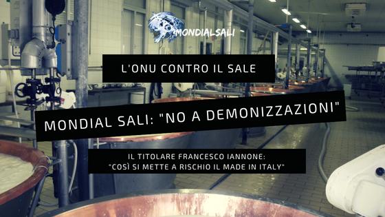 """Dall'Onu guerra al sale e al Parmigiano Reggiano. Mondial Sali: """"No a demonizzazione del sale"""""""