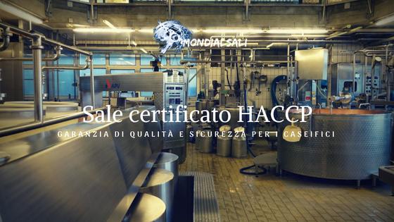 Il sale Mondial Sali certificato HACCP